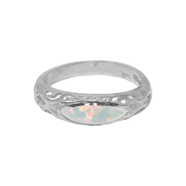 Silver Opalite Sun Ice Ring