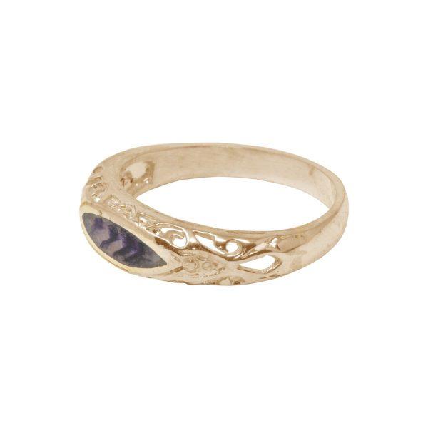 Yellow Gold Blue John Ring