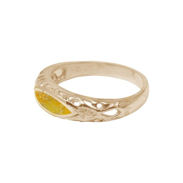 Yellow Gold Bumblebee Jasper Ring