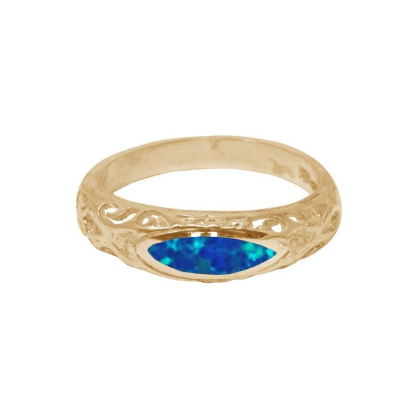 Yellow Gold Opalite Ring