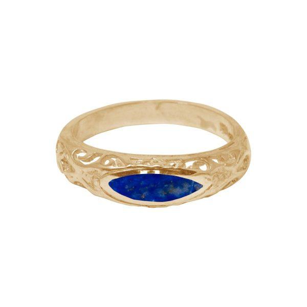 Yellow Gold Lapis Ring