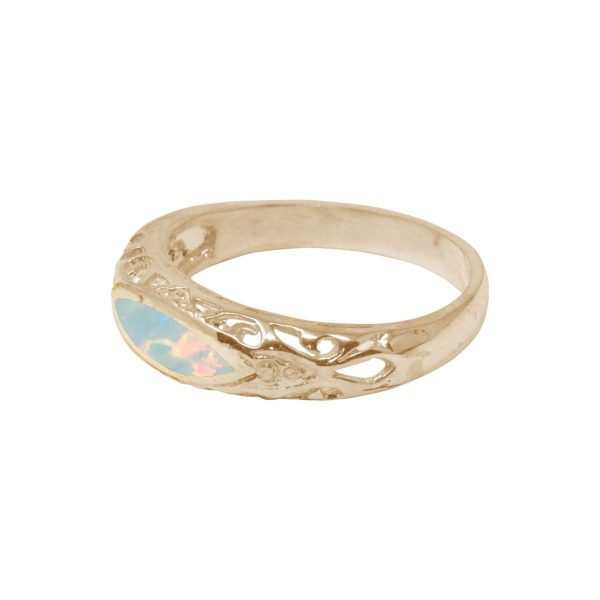 Yellow Gold Opalite Oval Ring