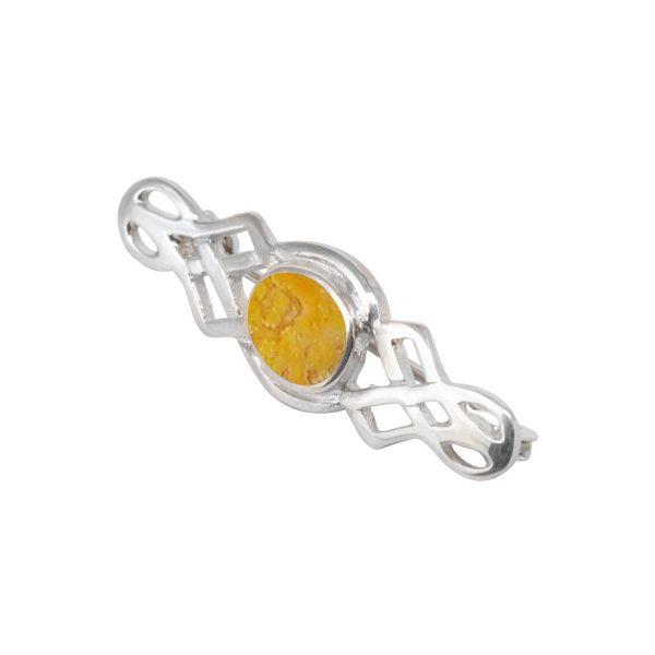 Silver Bumblebee Jasper Celtic Brooch