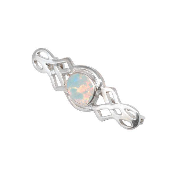 Silver Opalite Sun Ice Celtic Brooch