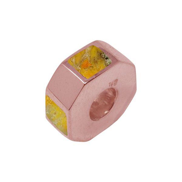 Rose Gold Bumblebee Jasper Bead Charm