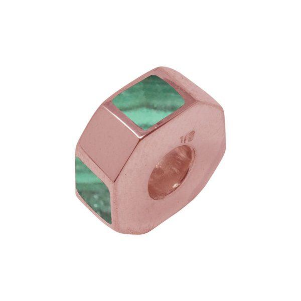 Rose Gold Malachite Bead Charm