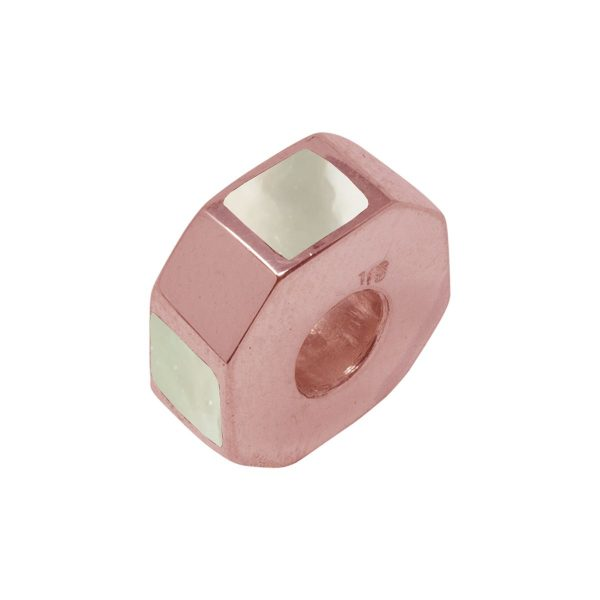 Rose Gold Mother of Pearl Bead Charm