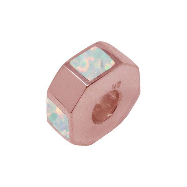 Rose Gold Opalite Sun Ice Bead Charm