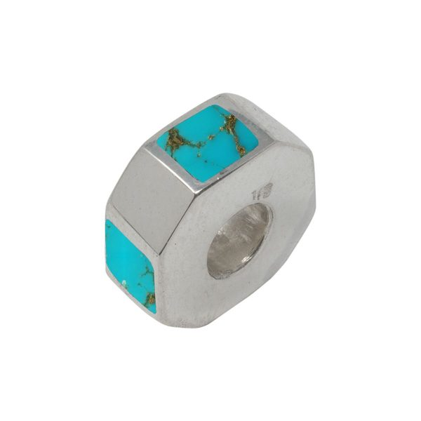 Silver Turquoise Bead Charm