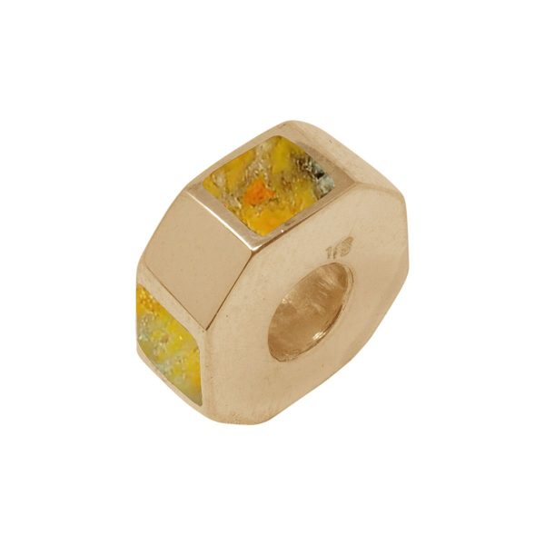 Yellow Gold Bumblebee Jasper Bead Charm