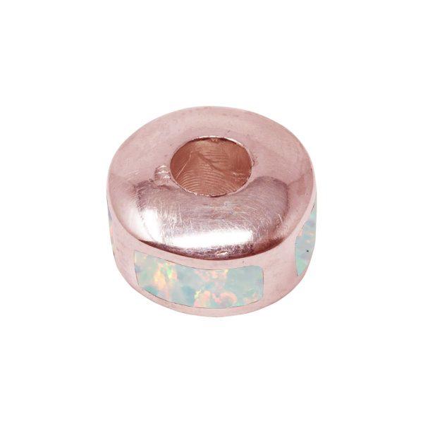 Rose Gold Opalite Bead Charm