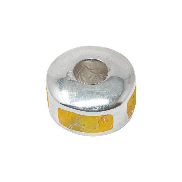 Silver Bumblebee Jasper Bead Charm