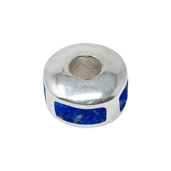 Silver Lapis Bead Charm