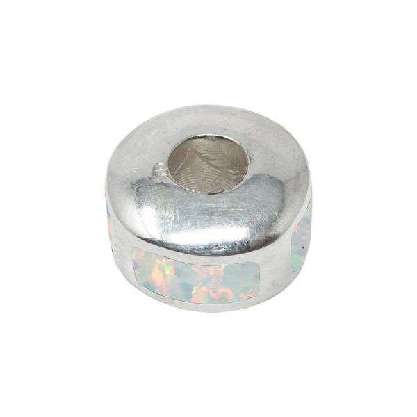 Silver Opalite Sun Ice Bead Charm