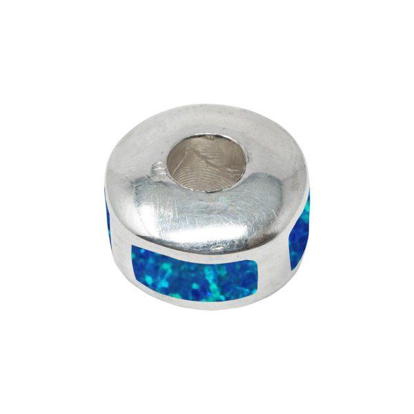 White Gold Oplaite Cobalt Blue Bead Charm