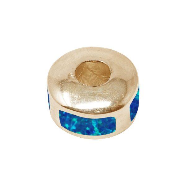 Yellow Gold Cobalt Blue Bead Charm