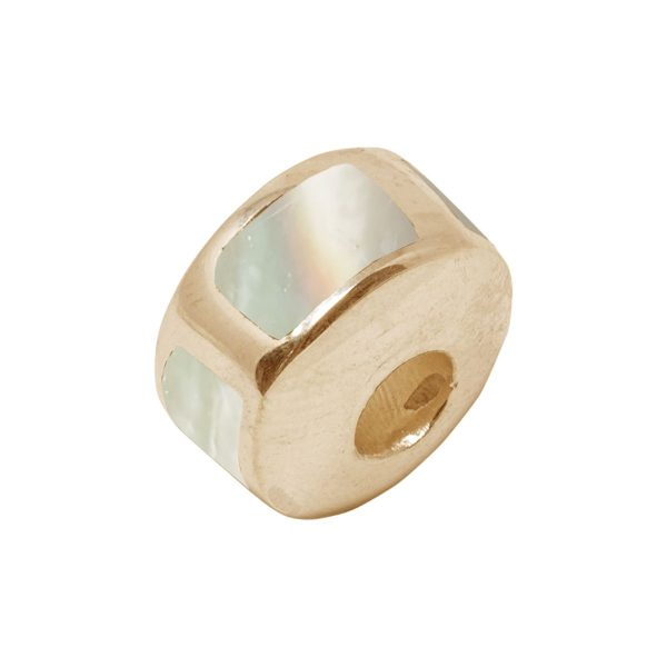 Yellow Gold Mother of Pearl Bead