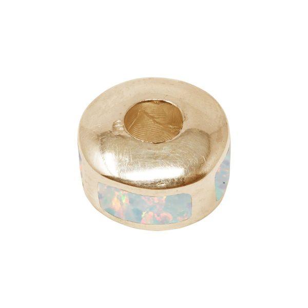 Yellow Gold Opalite Bead Charm