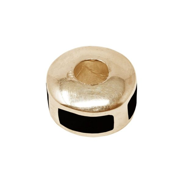 Yellow Gold Whitby Jet Bead