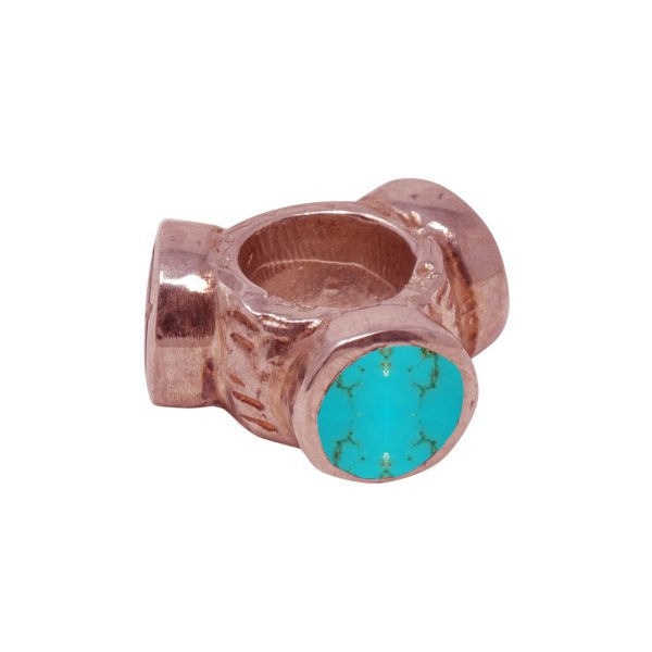 Rose Gold Turquoise Bead Charm