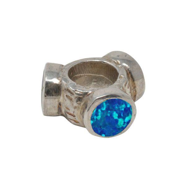 Silver Opalite Bead Charm
