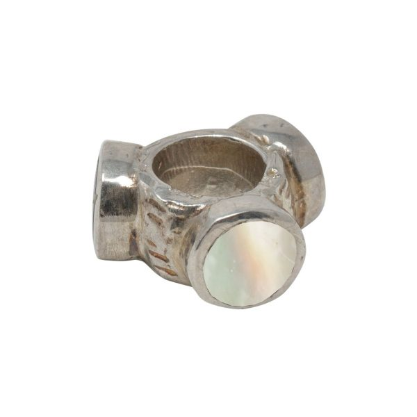 Silver Mother of Pearl Bead Charm