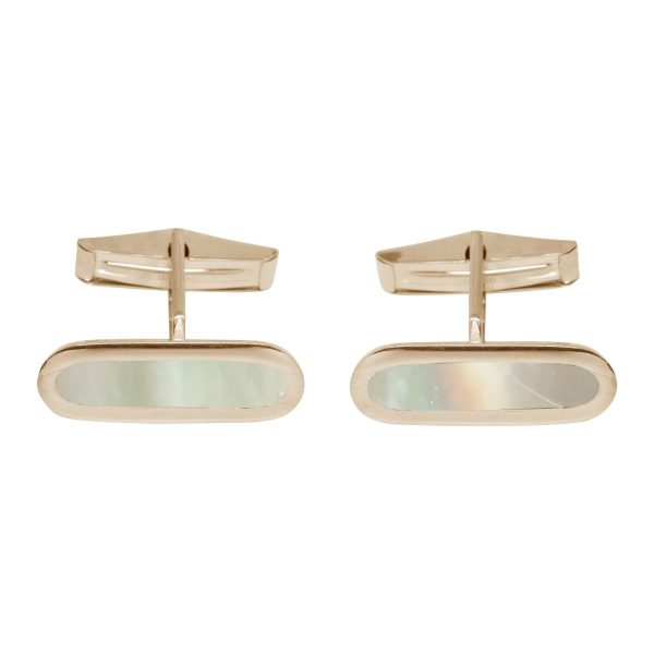 Yellow Gold Mother of Pearl Cufflinks