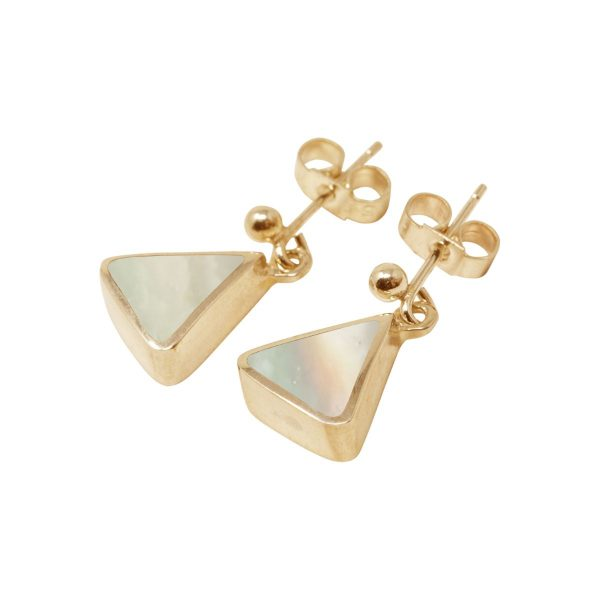 Gold Mother of Pearl Drop Earrings