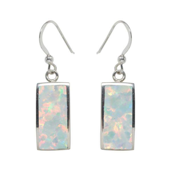 Silver Opalite Drop Earrings
