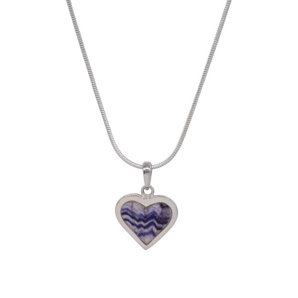 Silver Blue John Heart Shaped Pendant