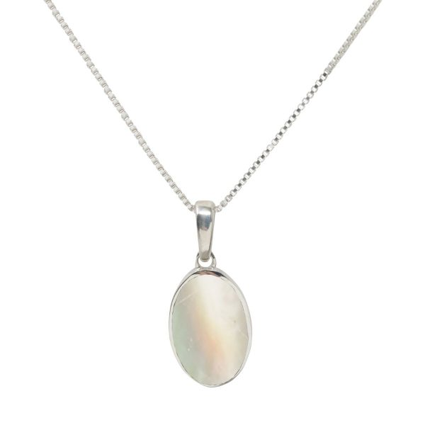 Silver Mother of Pearl Oval Pendant