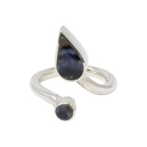 Silver Blue John Twist Ring