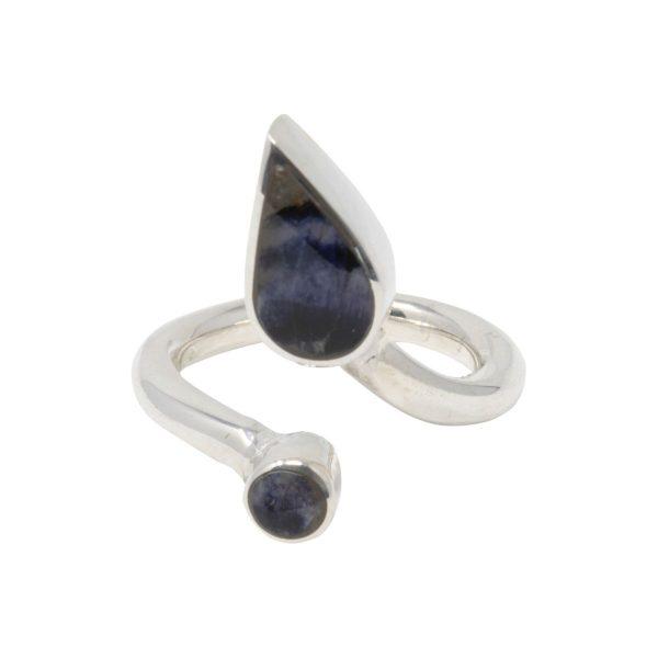 Silver Blue John Twist Ring