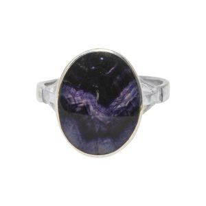 Silver Blue John Oval Ring
