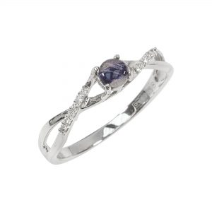 Blue John and diamond ring 2