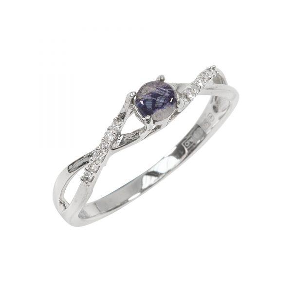 Blue John and diamond ring 2