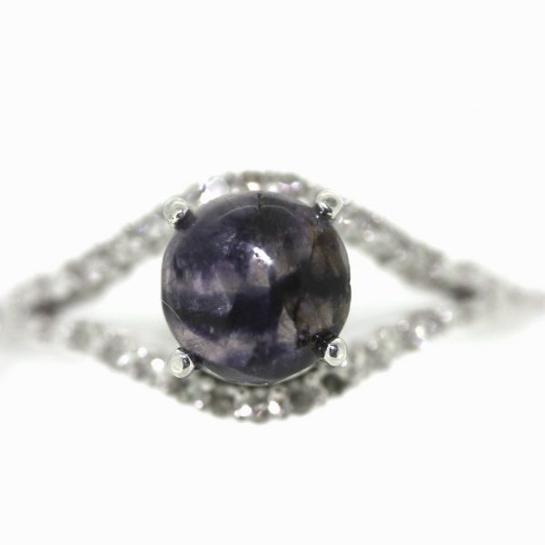 Diamond and blue john ring