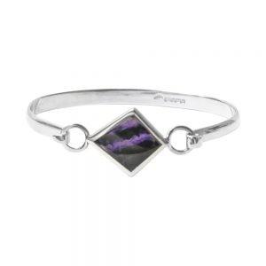 Kite shaped blue john bracelet