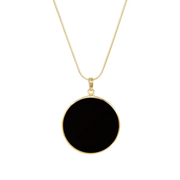 Yellow Gold Whitby Jet Tree of Life Pendant