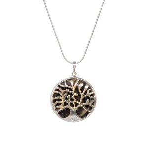 Silver Blue John Tree of Life Pendant